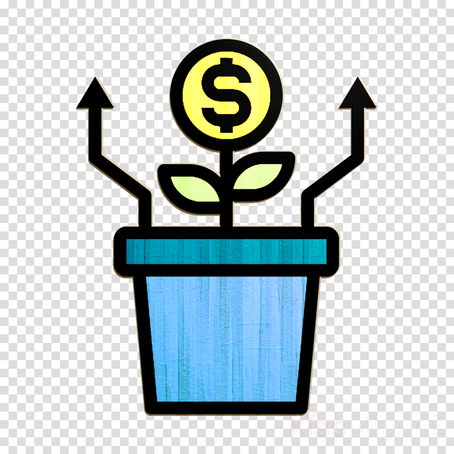 Growth icon Startup icon Business and finance icon