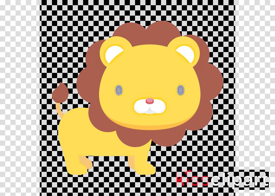 cartoon yellow lion
