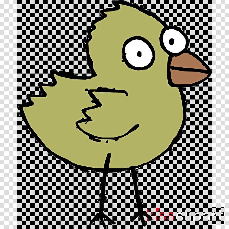 cartoon beak yellow line art bird