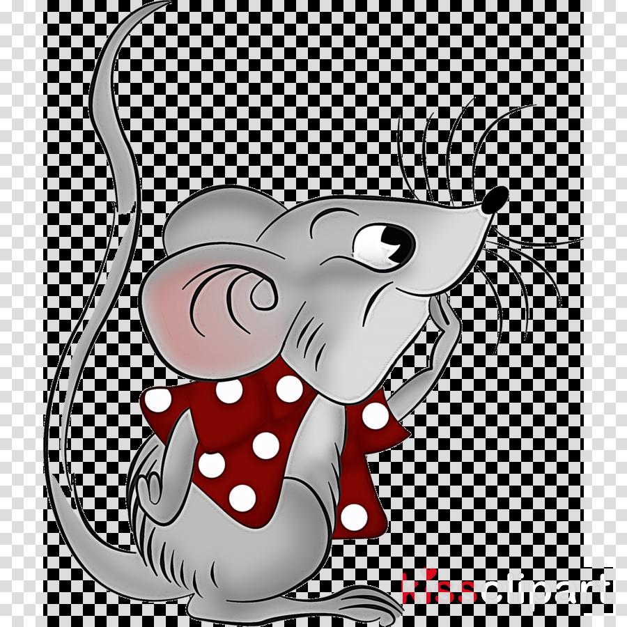 cartoon tail mouse pest line art