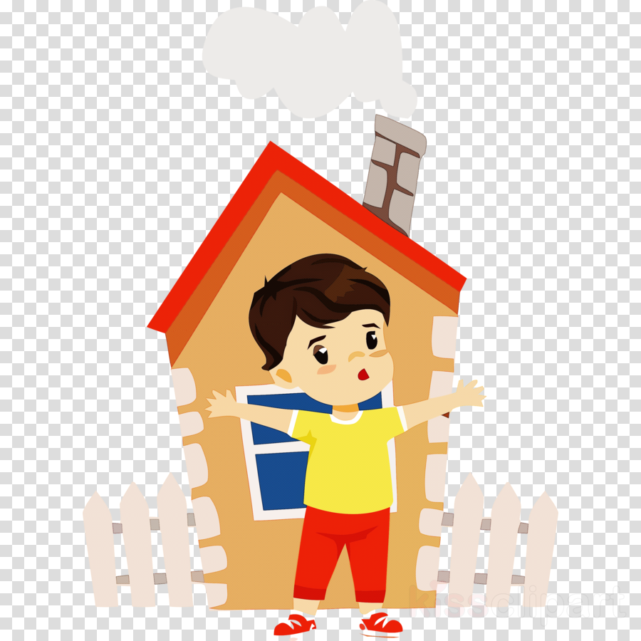 cartoon child house