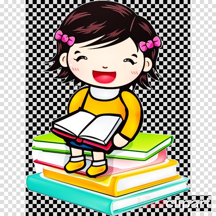 cartoon reading cheek child happy
