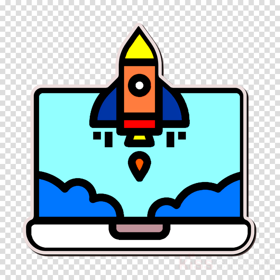Business and finance icon Startup icon Rocket icon