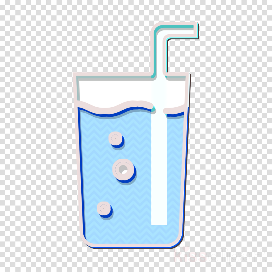 Glass of water icon Coffee Shop icon Straw icon