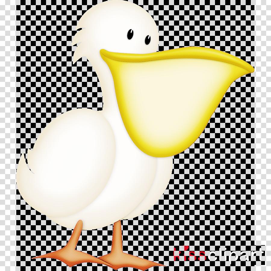 bird cartoon beak goose water bird