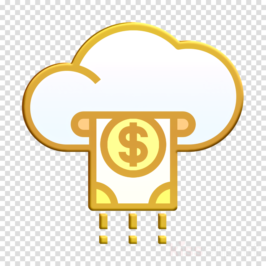 Cloud icon Payment icon Business and finance icon