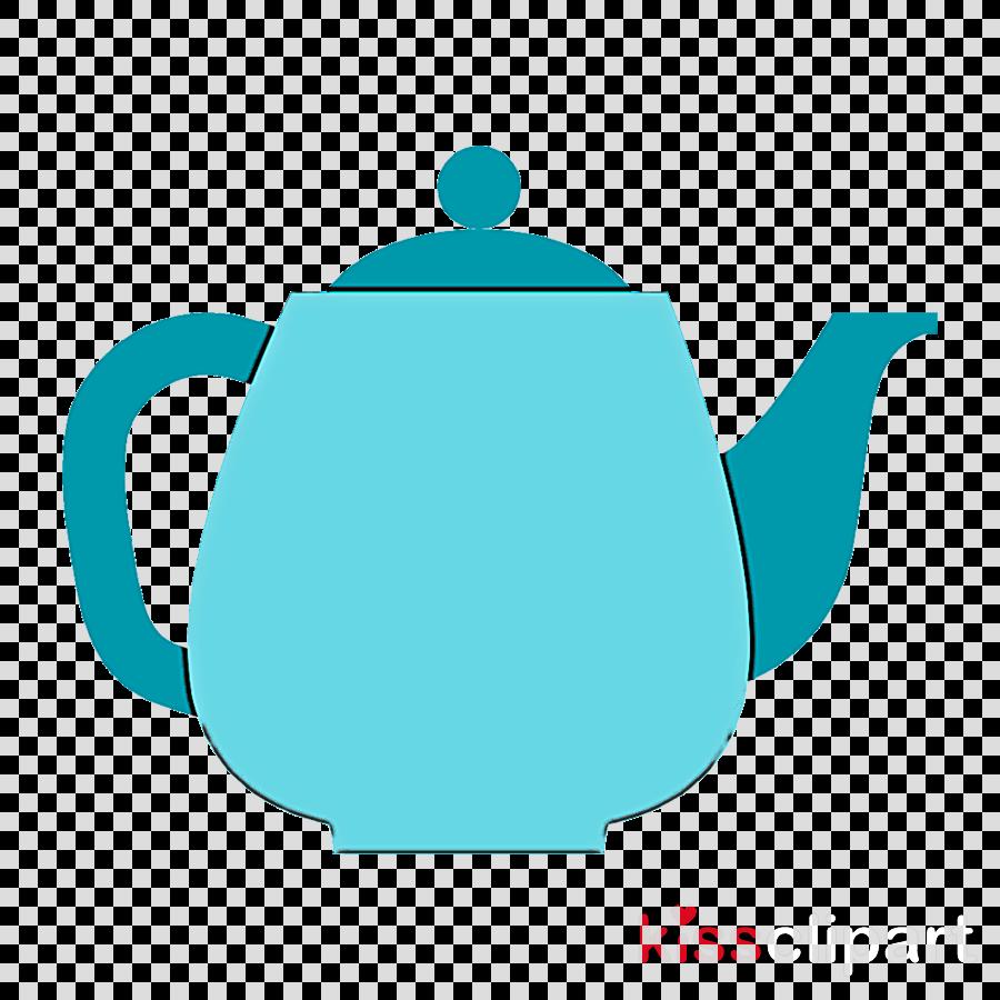kettle teapot blue aqua turquoise
