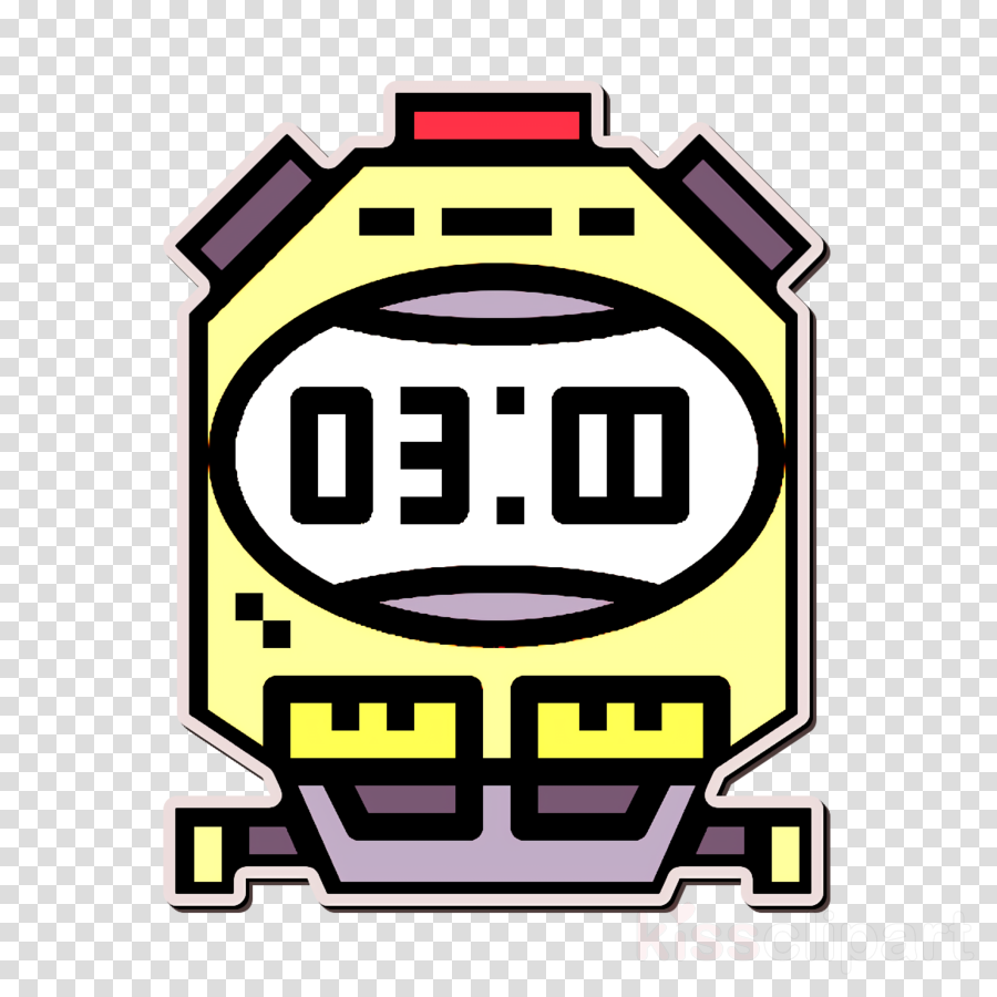Watch icon Stopwatch icon Time and date icon