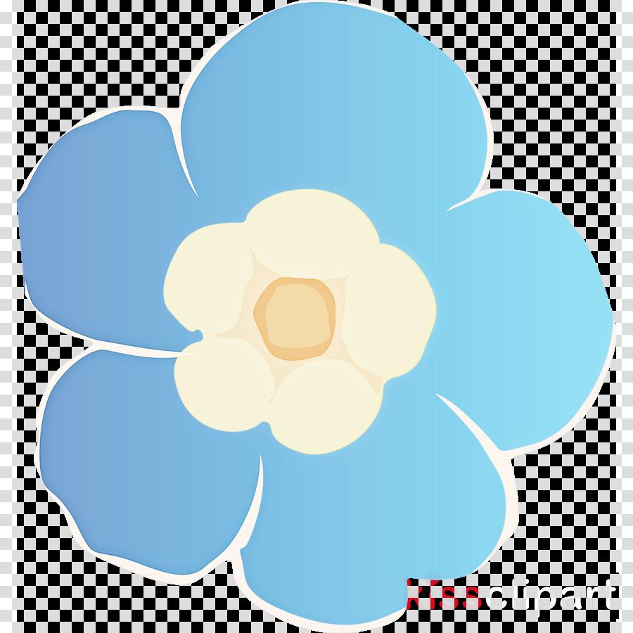 blue petal turquoise aqua flower