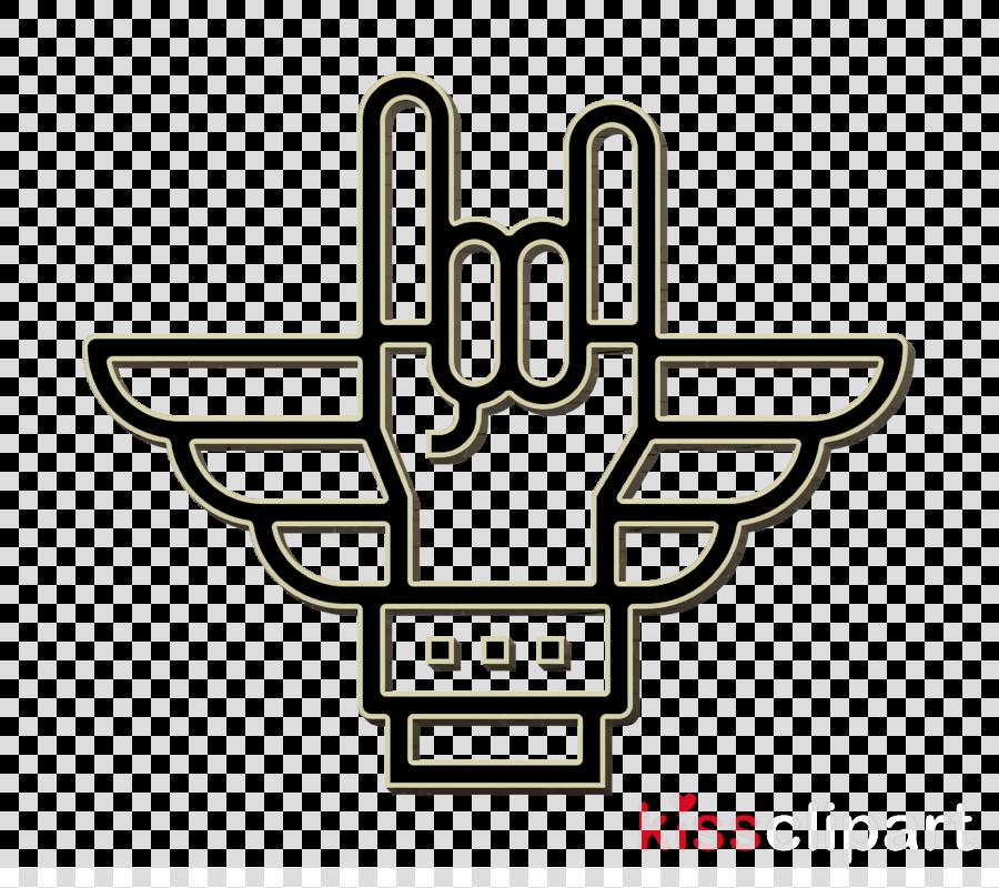 Hand icon Rock icon Punk Rock icon