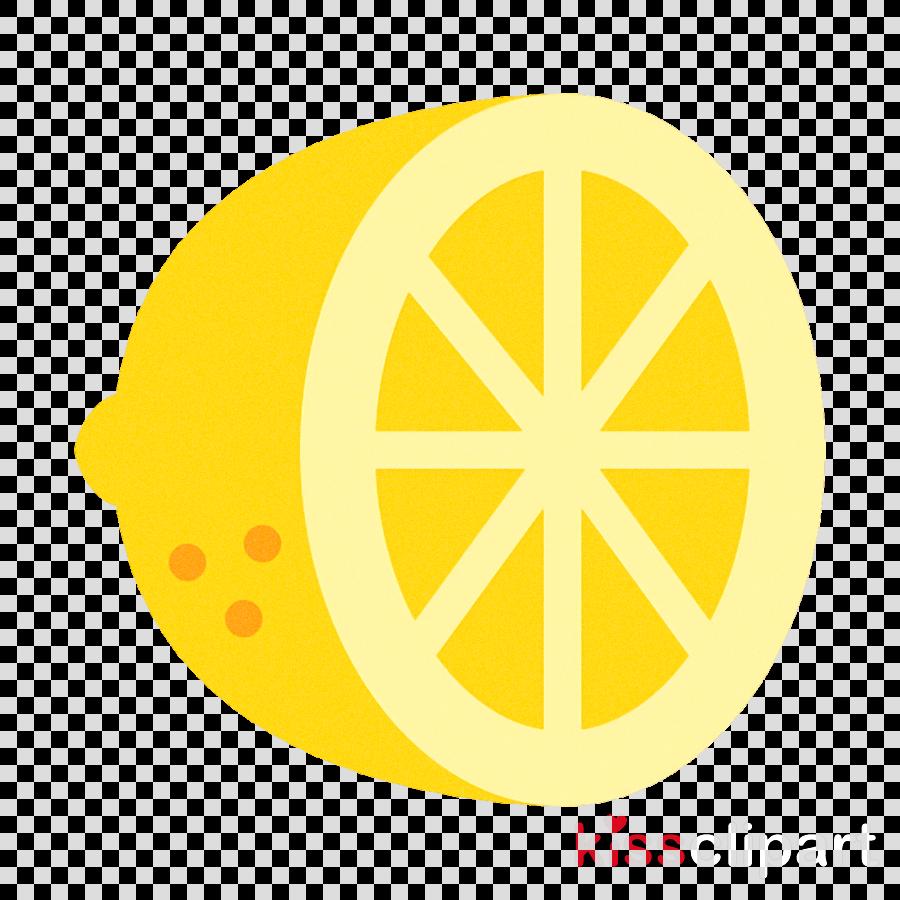 yellow lemon circle symbol citrus