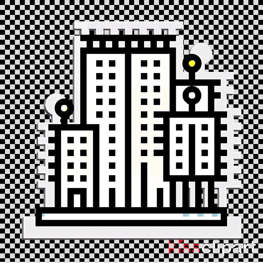 City garden tower icon Condominium icon Pattaya icon