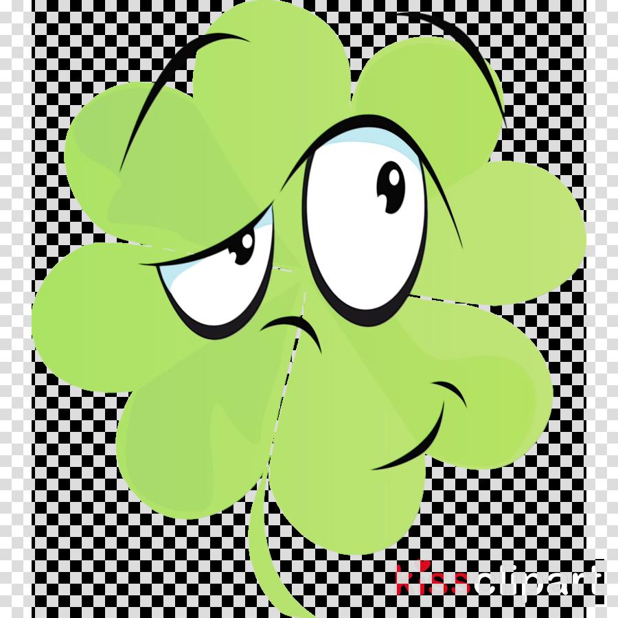 green cartoon smile