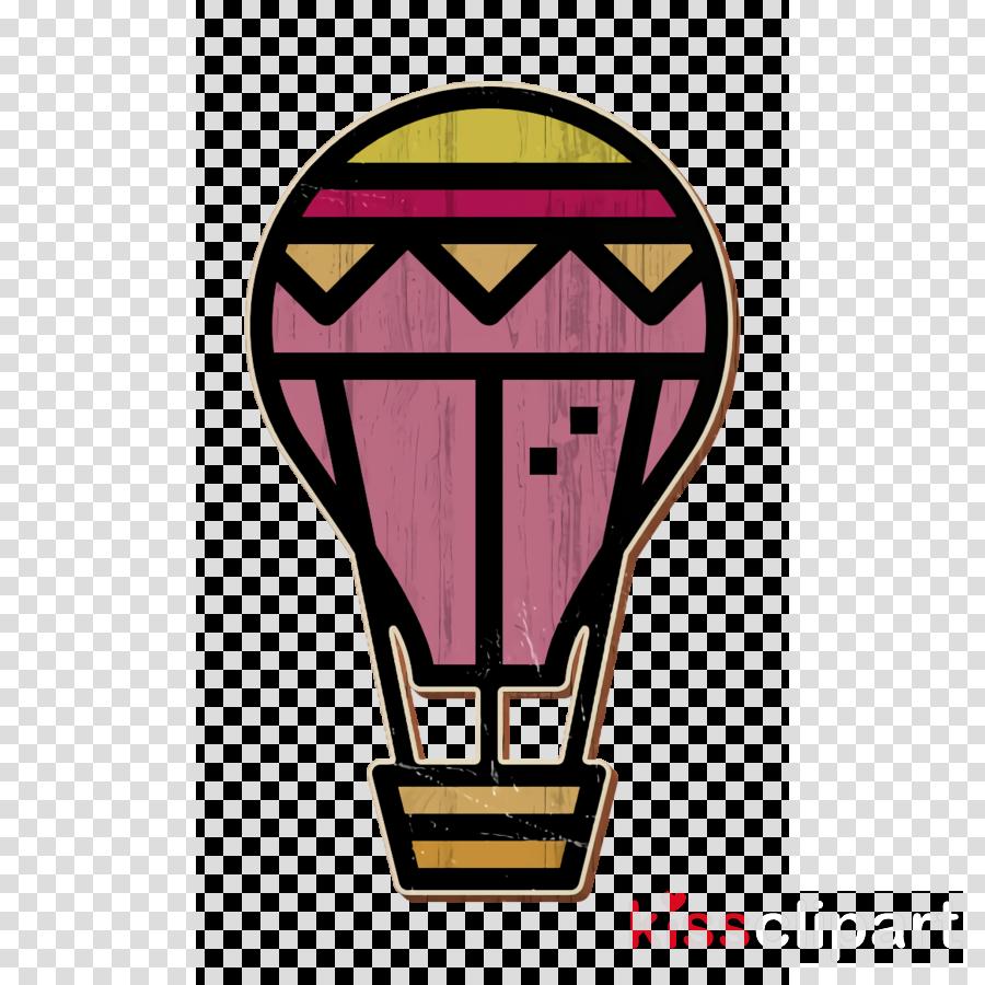 Air balloon icon Pattaya icon Trip icon