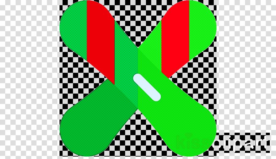 green line font symbol logo