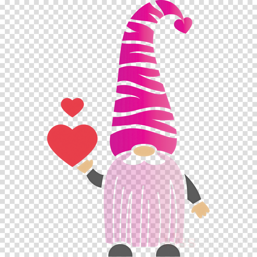 Gnome loving red heart