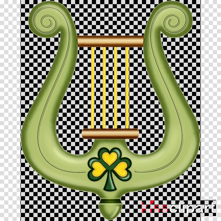 green candle holder symbol clàrsach