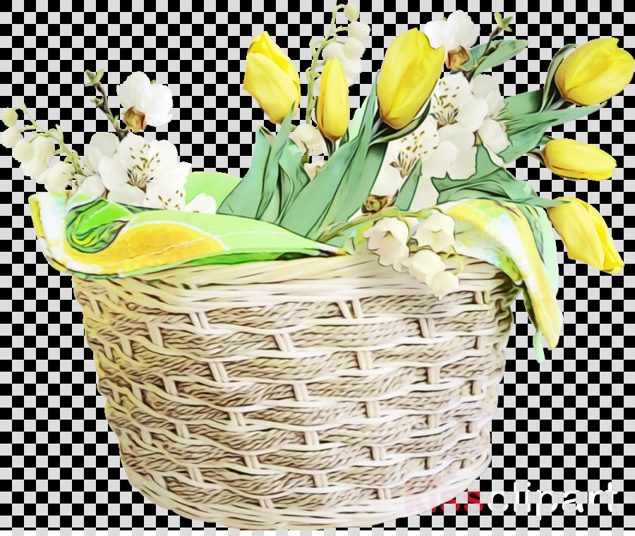 flower flowerpot cut flowers yellow plant