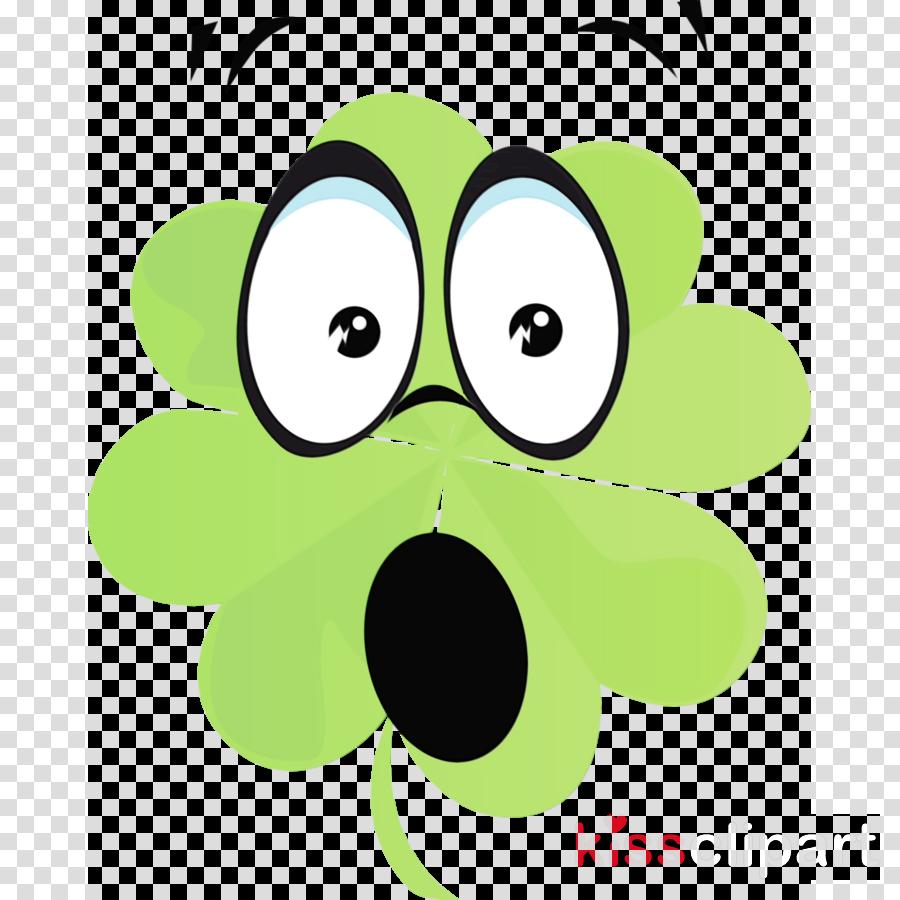 green cartoon snout smile circle