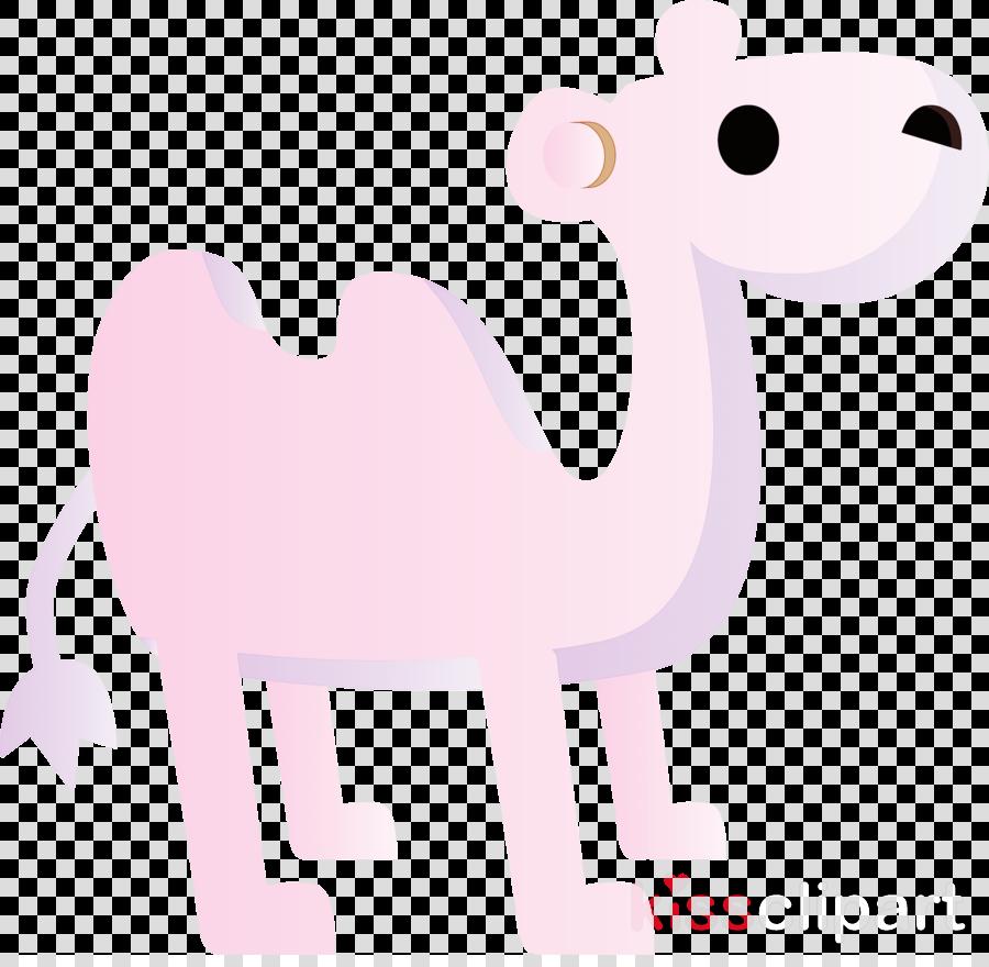 pink cartoon sticker animal figure tail