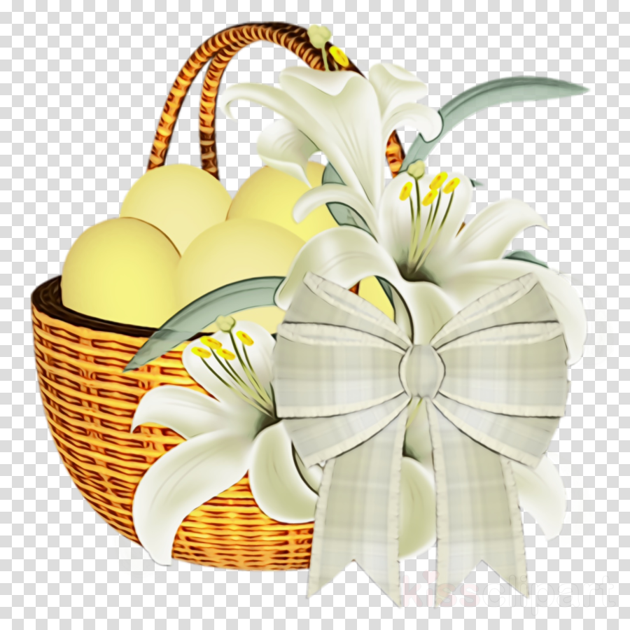 white basket present gift basket yellow