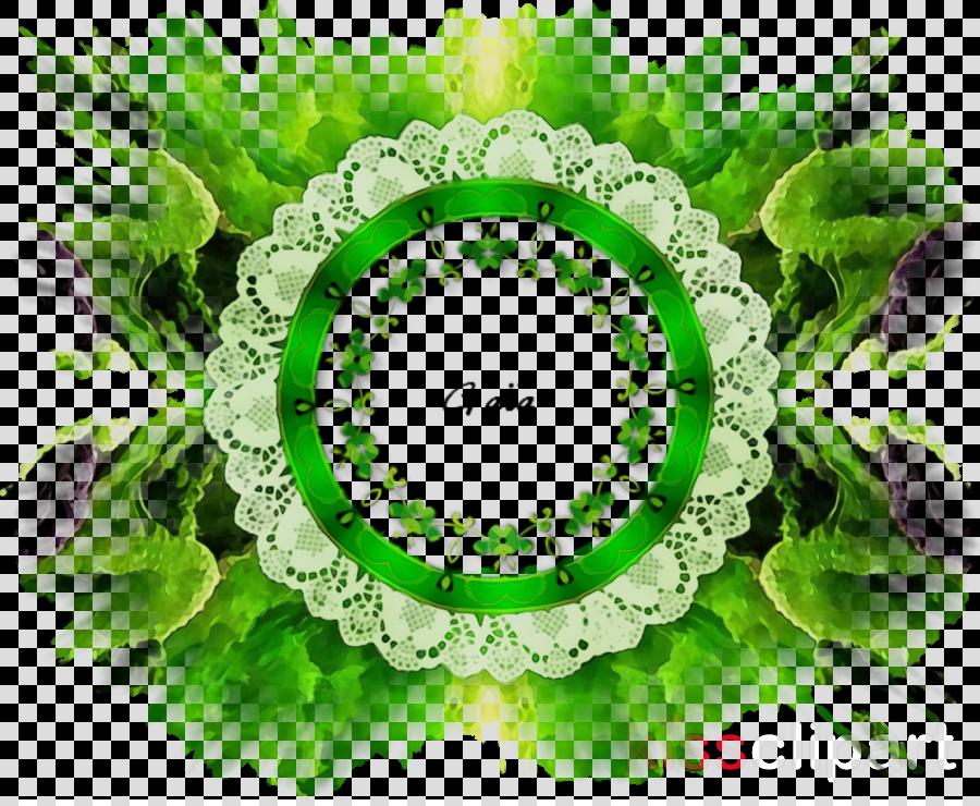 green circle logo plant