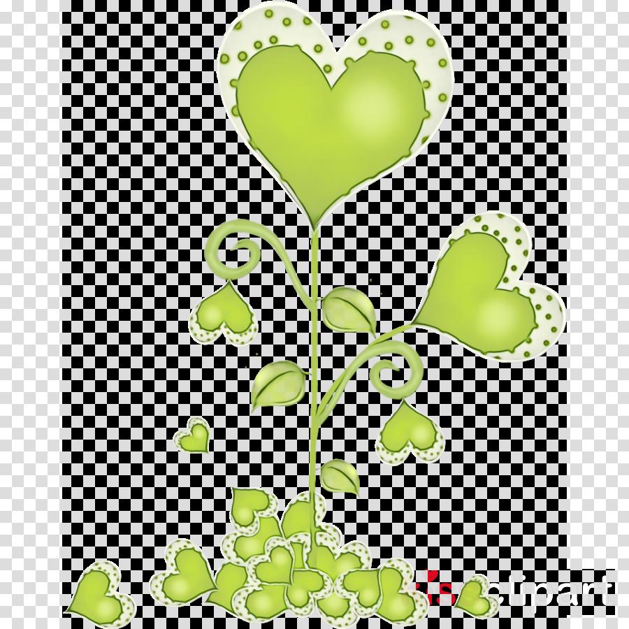 green leaf plant heart flower