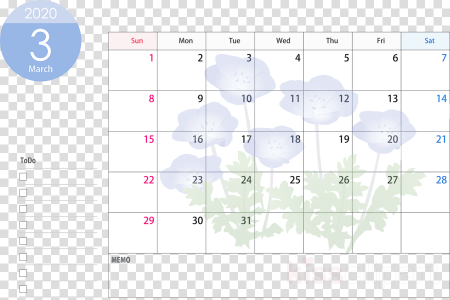 March 2020 Calendar March 2020 Printable Calendar 2020 Calendar