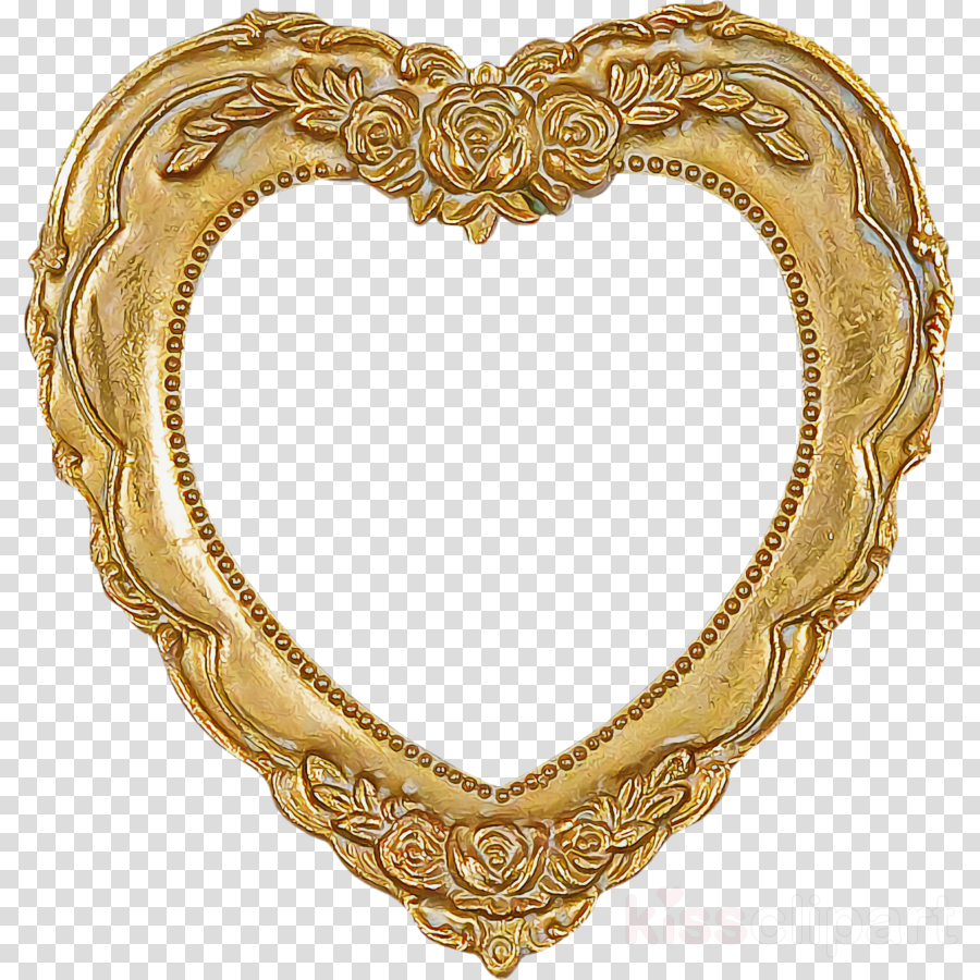 Gold heart valentines day