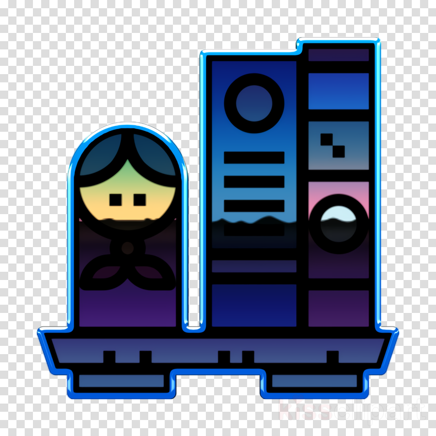 Bookshelf icon Furniture and household icon Cartoonist icon