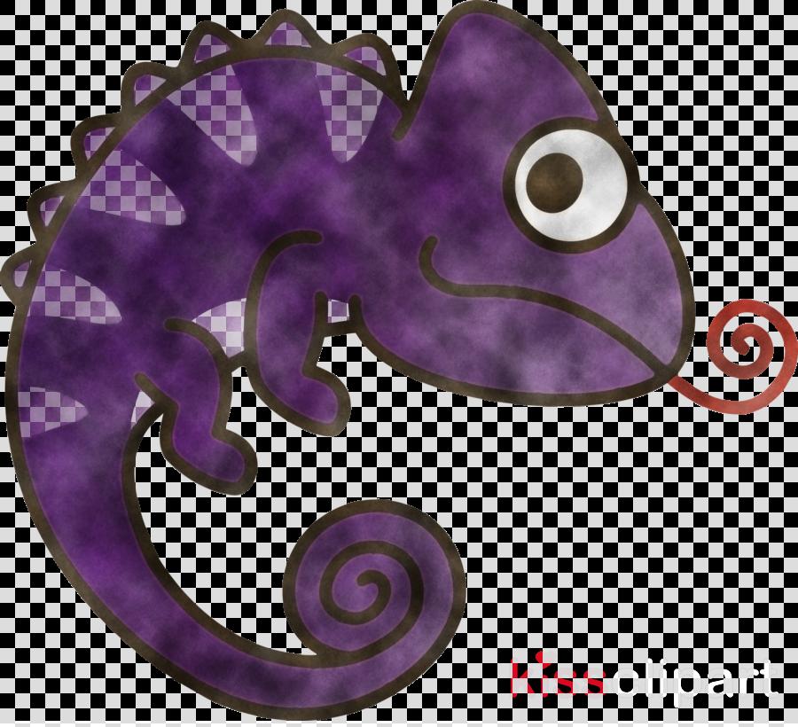 purple violet seahorse chameleon lizard