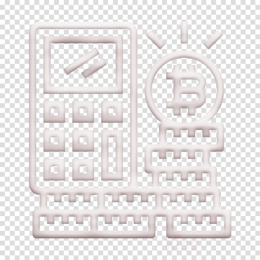 Calculator icon Cryptocurrency icon Bitcoin icon