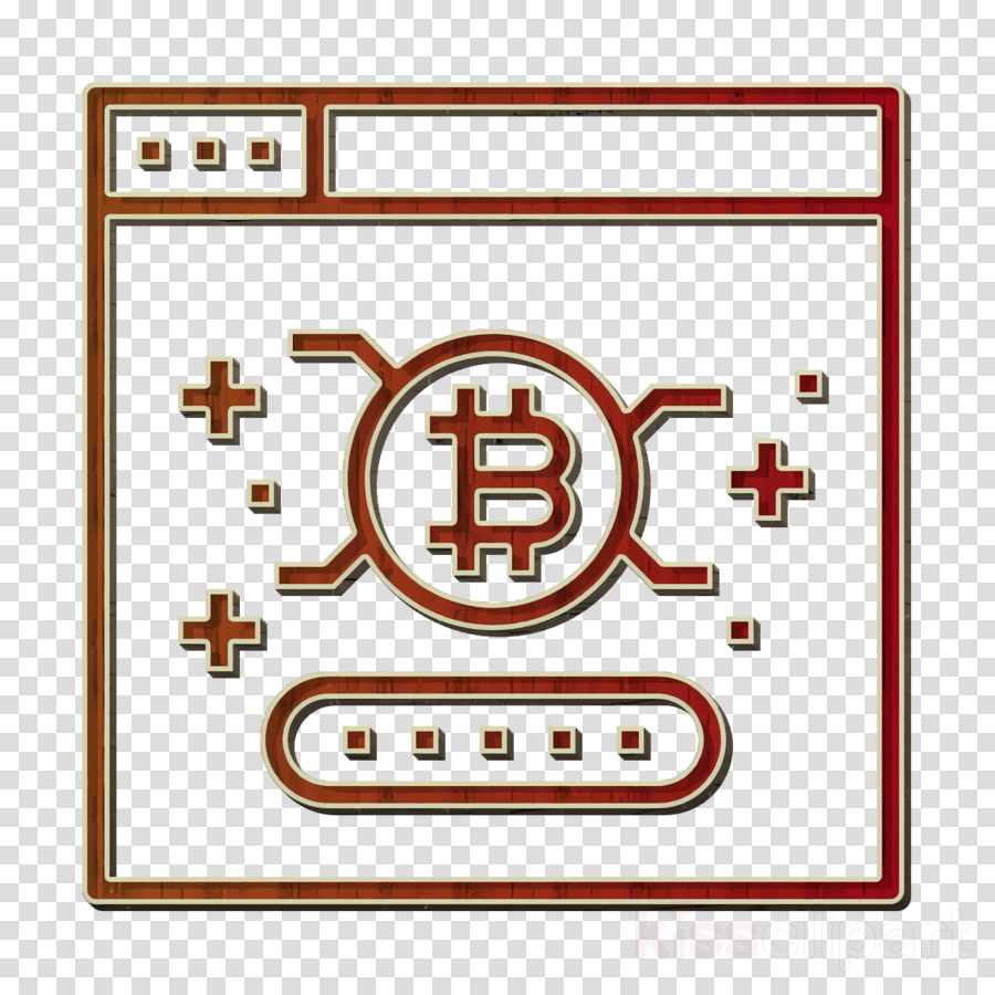 Password icon Bitcoin icon Cryptocurrency icon