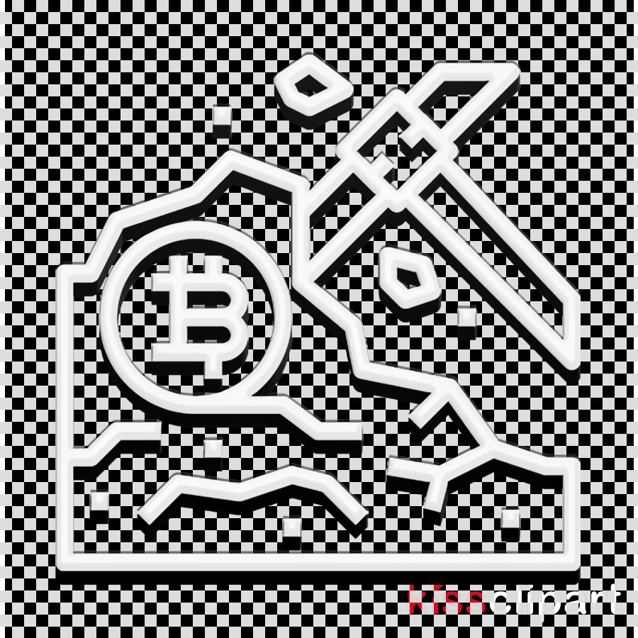 Bitcoin icon Data mining icon Mine icon