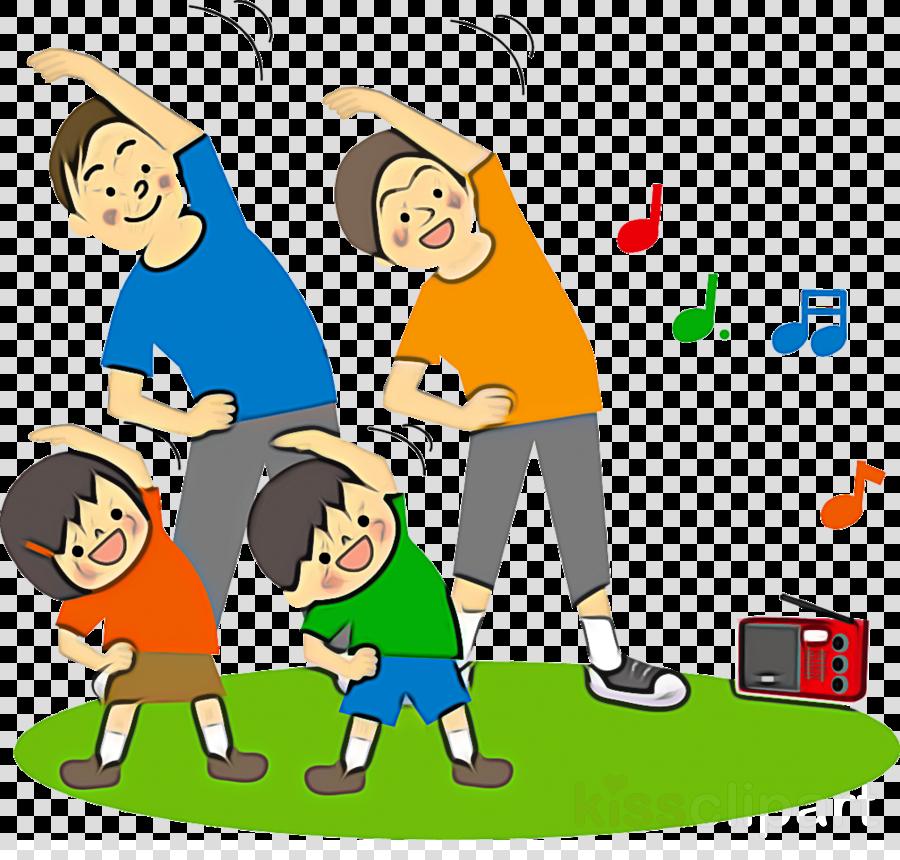 cartoon sharing playing sports playing with kids celebrating