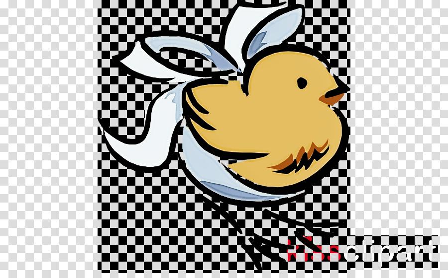 white bird cartoon beak line art