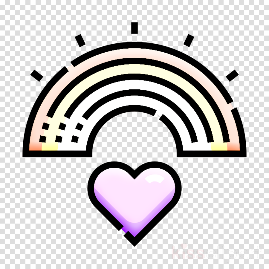 Rainbow icon Lgbt icon World Pride Day icon