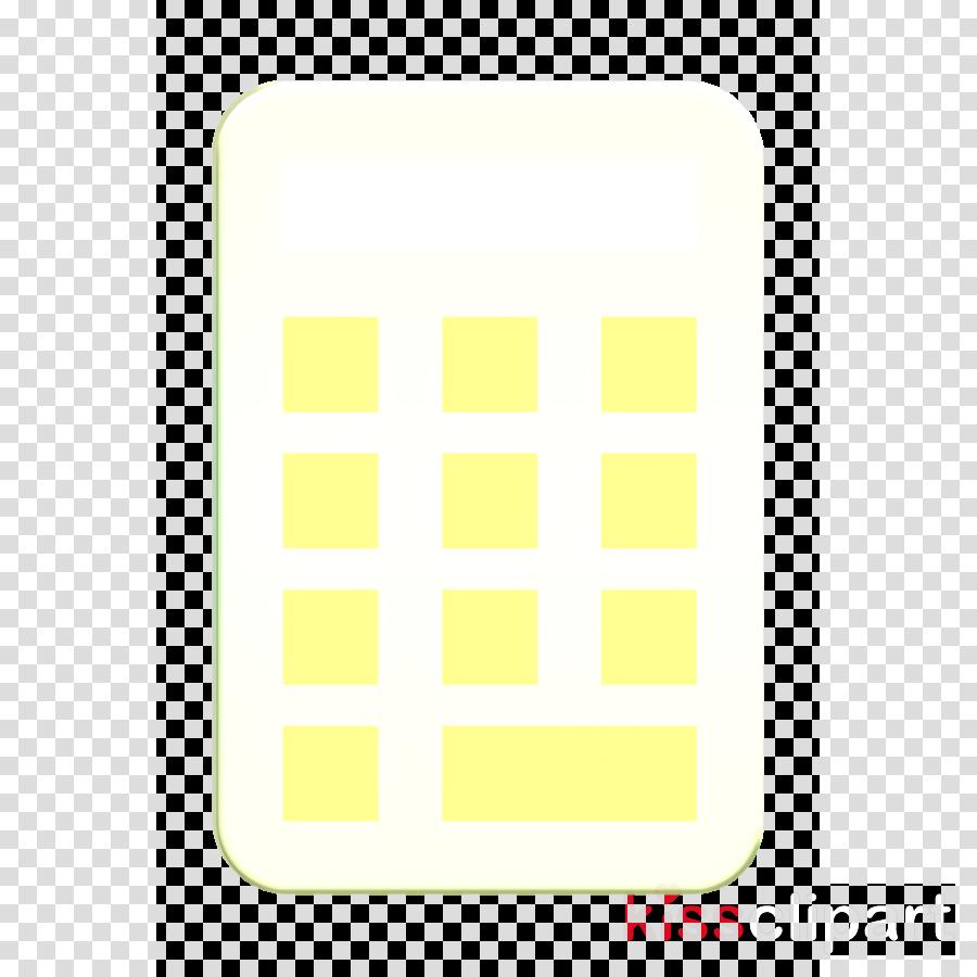 Calculator icon School icon Technological icon