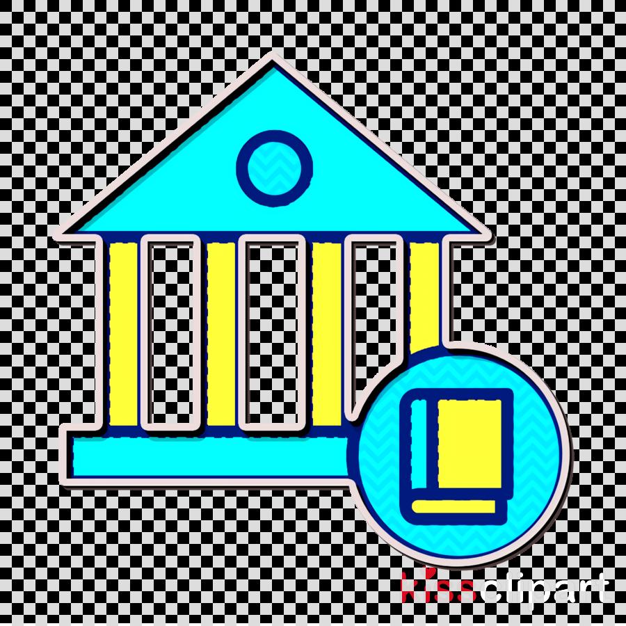 Architecture and city icon School icon
