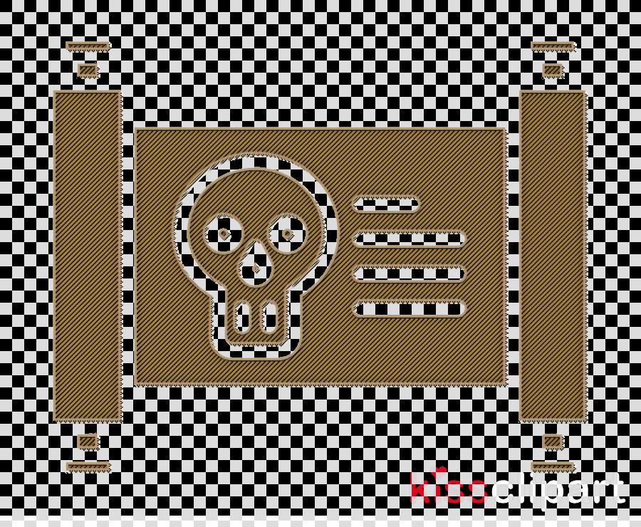 Pirates icon Parchment icon Treasure map icon