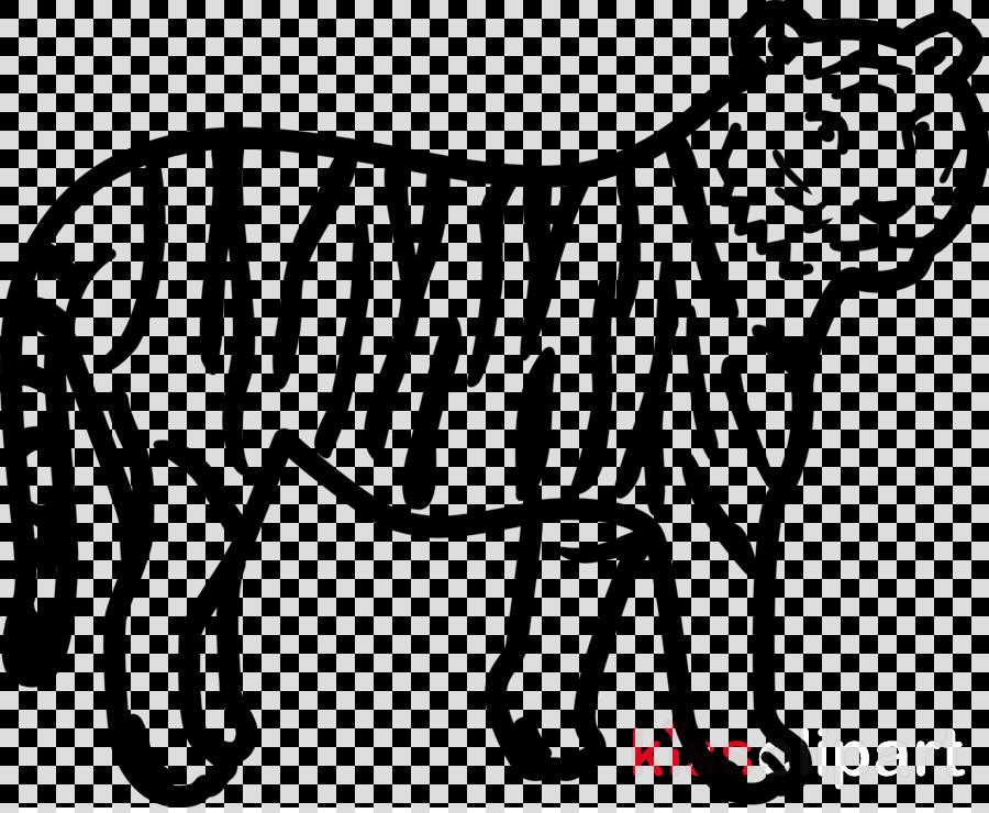 white line art wildlife black animal figure