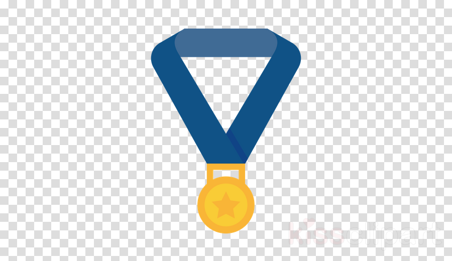 blue yellow medal electric blue symbol