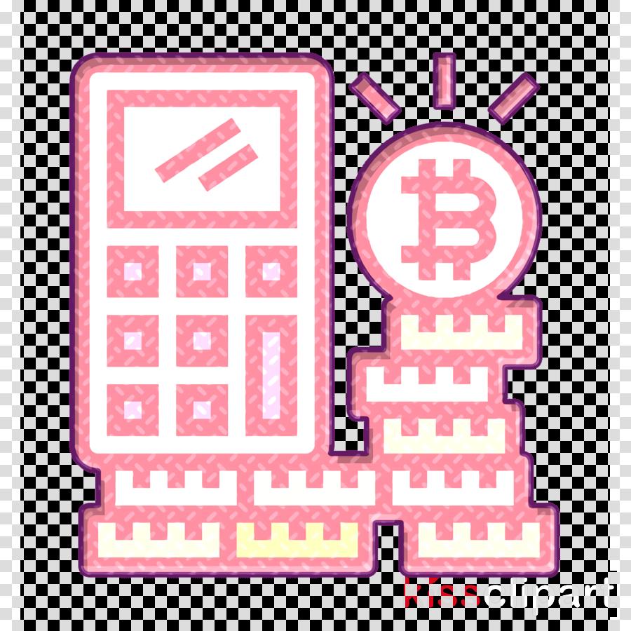 Cryptocurrency icon Calculator icon Bitcoin icon