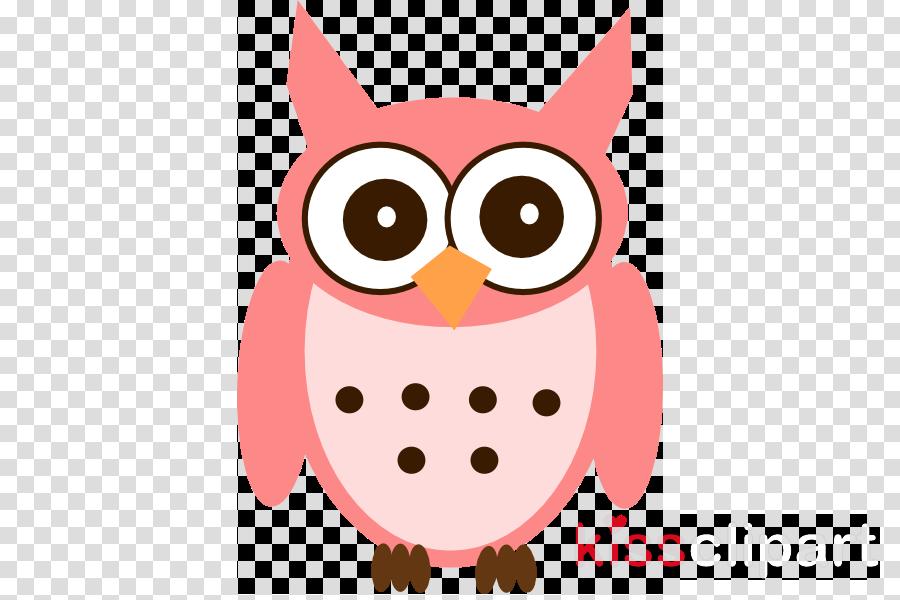 owl pink cartoon bird of prey bird