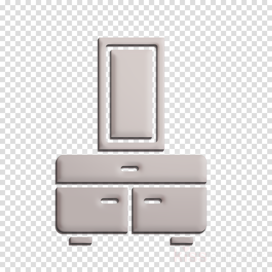 Interiors icon Furniture and household icon Chest icon