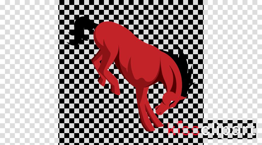 red mane tail horse stallion
