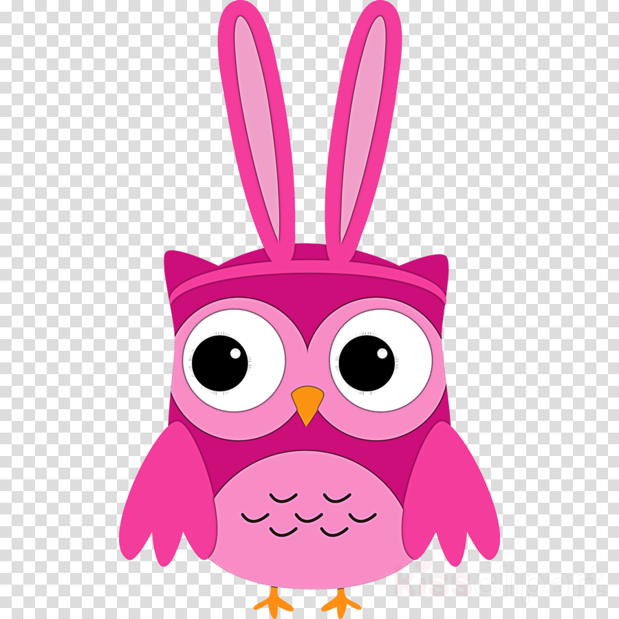pink cartoon owl magenta whiskers