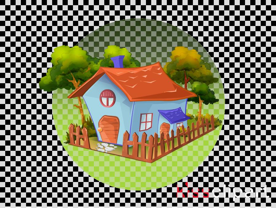 cartoon hut cottage house log cabin