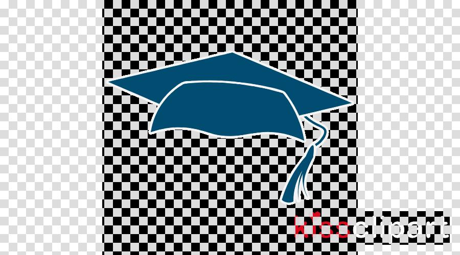 turquoise logo headgear electric blue mortarboard
