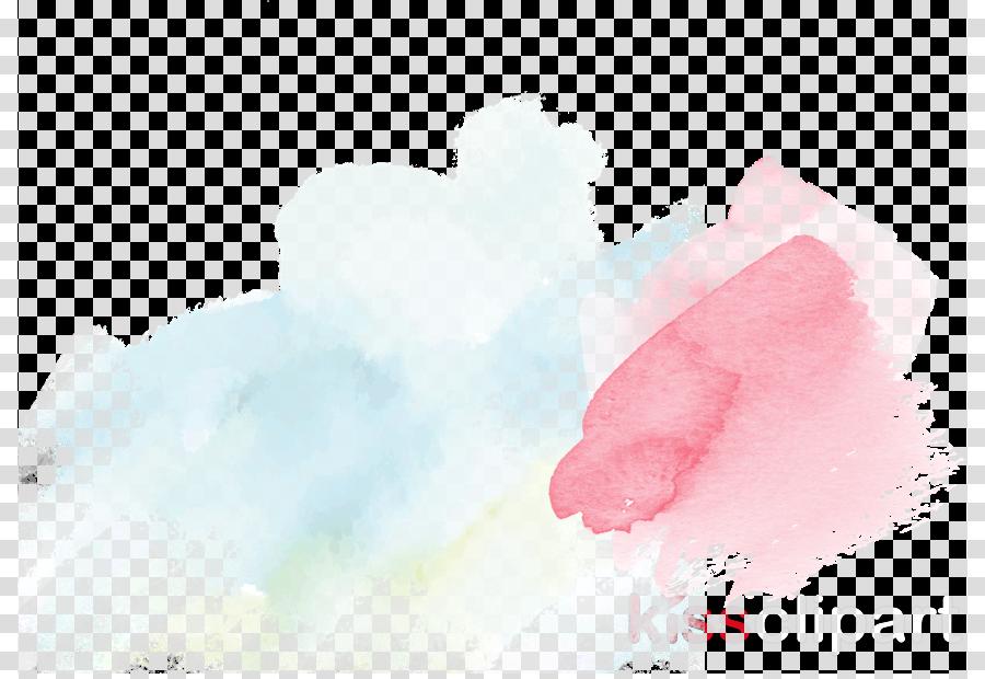 pink watercolor paint cloud paint cotton candy